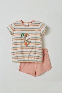 211-3-BST-S/924 Meisjes pyjama, multicolor gestreept