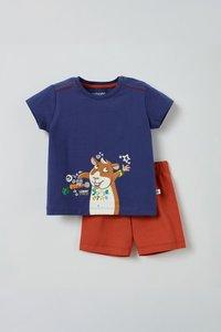 211-3-PSU-S/896 Unisex pyjama, donkerblauw