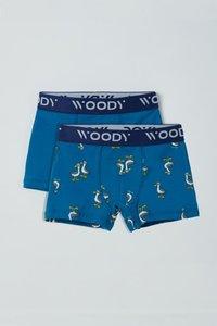 211-1-CLD-Z/085 Jongens Short, duopack blauw + blauw octopus
