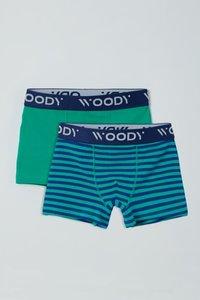 211-1-CLD-Z/080 Jongens Short, duopack groen + blauw gestreept
