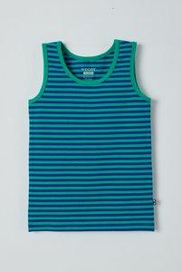 211-1-VES-Z/974 Jongens singlet , blauw-groen gestreept