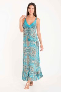 DB21-101 MULTICOLOR Azure Jaipur-Avalon strappy dress