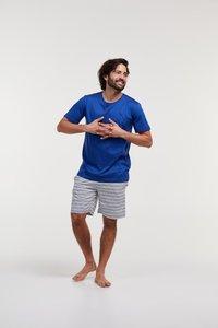 Heren pyjama,blauw 211-1-MRS-S/857